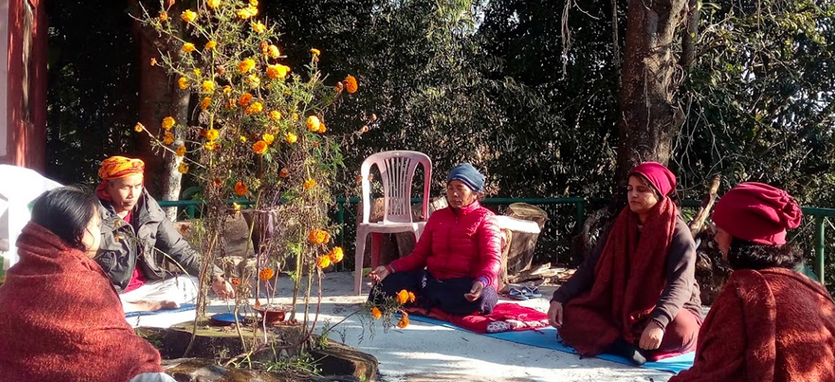 Open Air Meditation at the garden