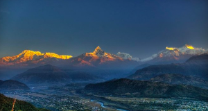 Morning View from Sarangot Pokhara Nepal